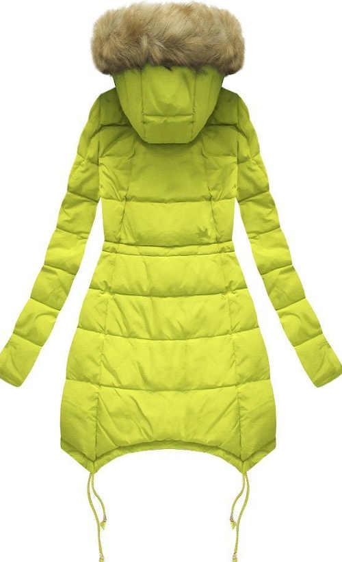 Zateplená dámská zimní bunda s odnímatelným kožíškem na kapuci