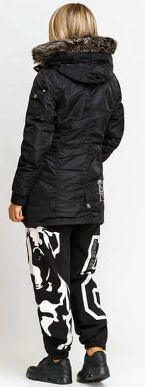 Černá dámská zimní bunda do města