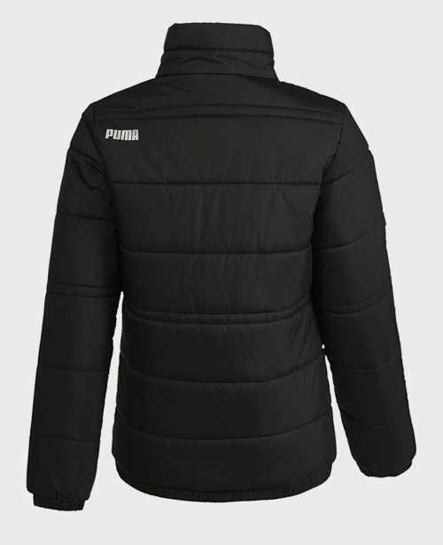 Černá dětská zimní bunda Puma bez kapuce