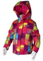 Dívčí lyžařská bunda v moderní barevné kombinaci
