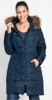 Lehký prošívaný péřový kabát Bonprix