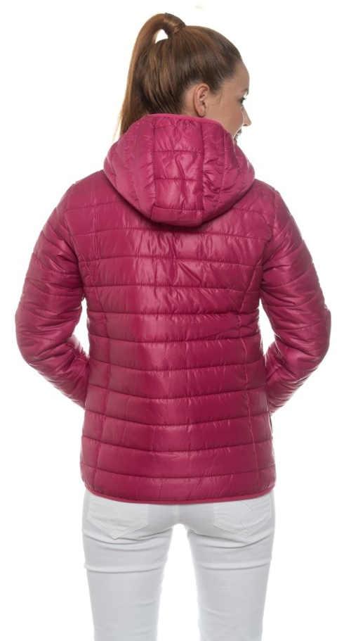 Levná fialová prošívaná dámská zimní bunda