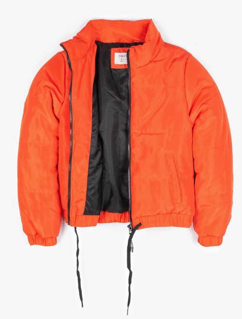 Oranžová holčičí zimní bunda bomber