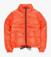 Oranžová vatovaná prošívaná dětská bunda