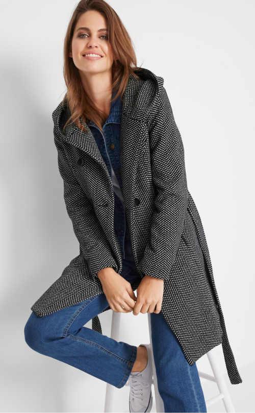 Přechodový dámský elegantní kabát