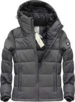 Šedá prošívaná lehká pohodlná pánská zimní bunda