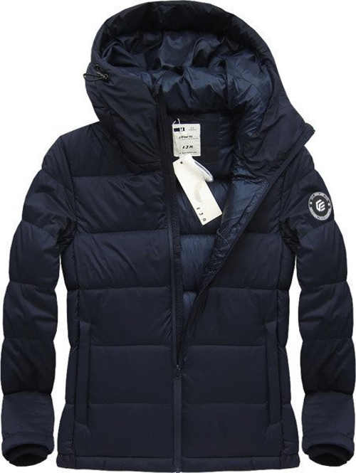 Teplá pánská zimní bunda s přírodní péřovou vyplní