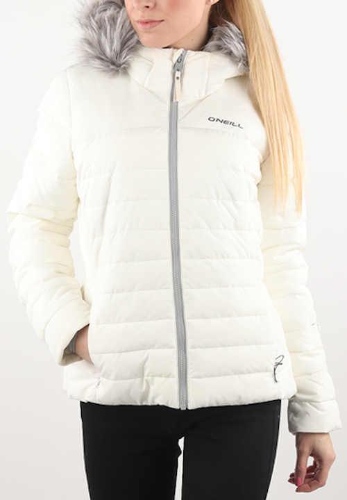 Zářivě bílá dámská zimní nepromokavá bunda