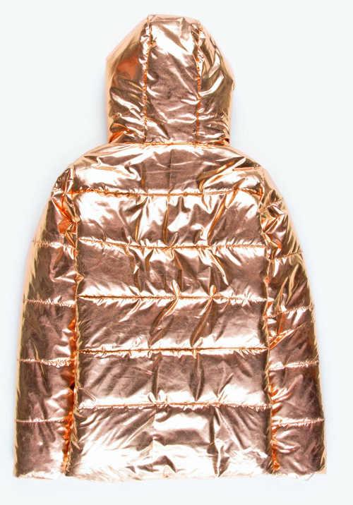 Zlatá zimní bunda pro malé parádnice