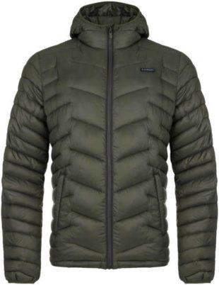 Pánská prošívaná zimní bunda s integrovanou kapucí