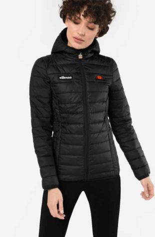 Dámská zimní bunda sportovního střihu v černém provedení