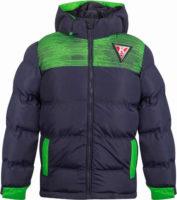 Dětská zimní prošívaná bunda s odnímatelnou kapucí