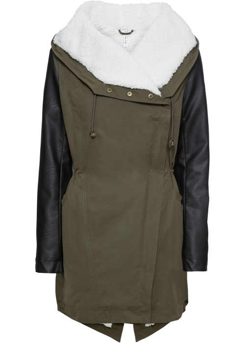 Moderní dámský zimní kabát v originálním provedení