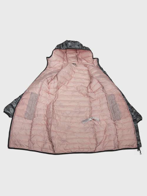 dámský značkový zimní kabát s kapucí