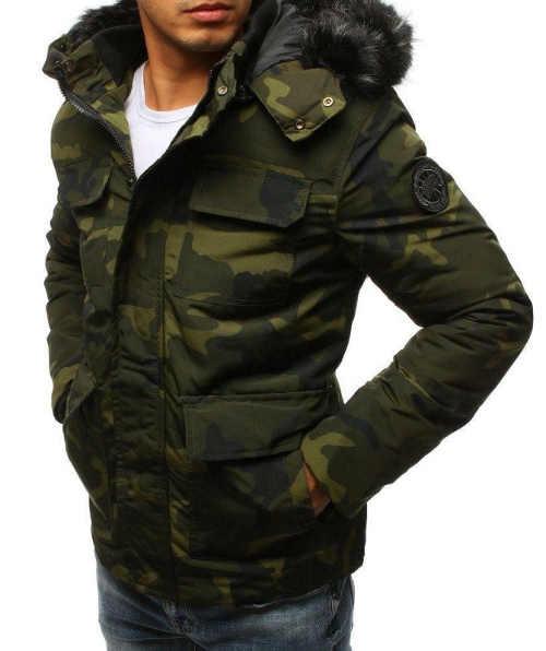 kvalitní bunda s kapucí na zimu pro pány
