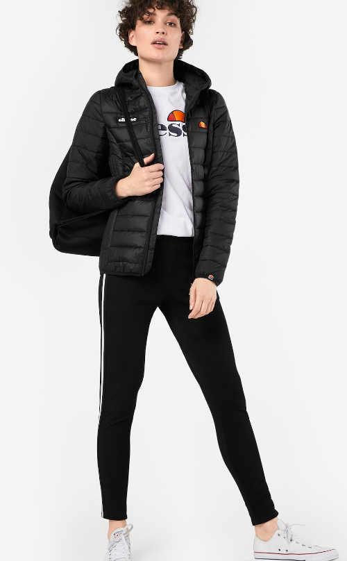 moderní dámská zimní bunda do pasu