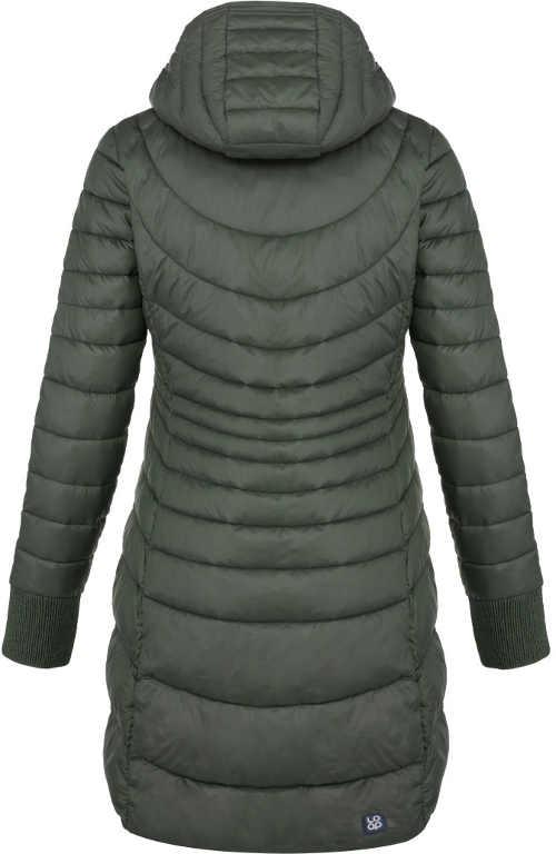 moderní zimní prošívaný dámský kabát
