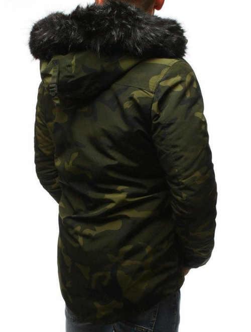 pánská zimní bunda v army stylu do pasu