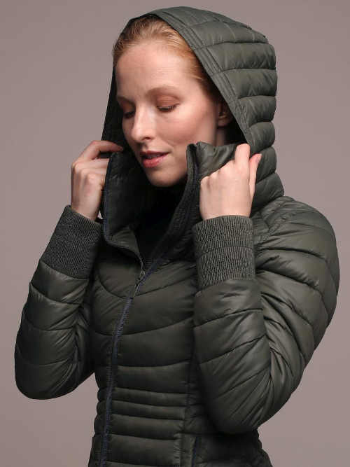 stylový zimní prošívaný kabát pro dívky a ženy