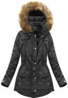 Dámská bunda s odnímatelnou kapucí v lichotivém střihu