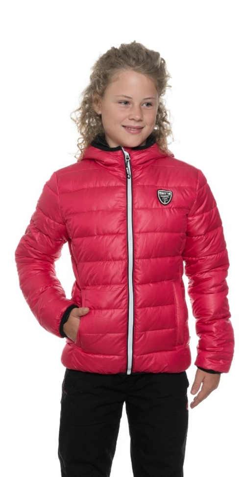 Prošívaná zimní bunda pro dívky s kapucí v módních barvách