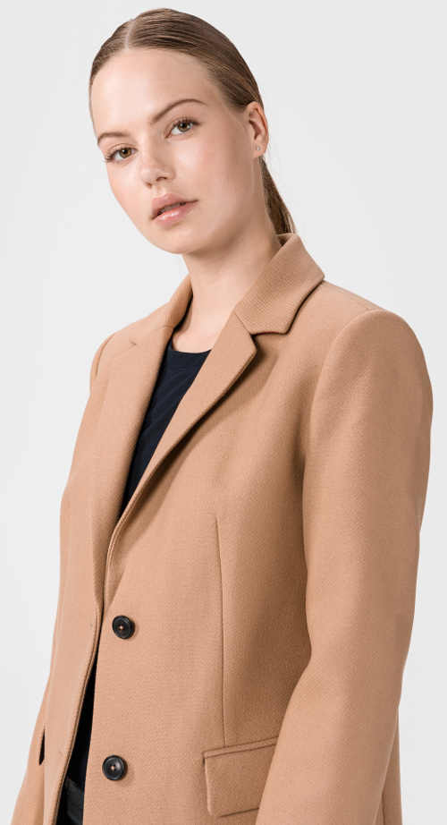Béžový dámský kabát na jaro podzim
