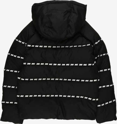 Černobílá klučičí zimní bunda Nike