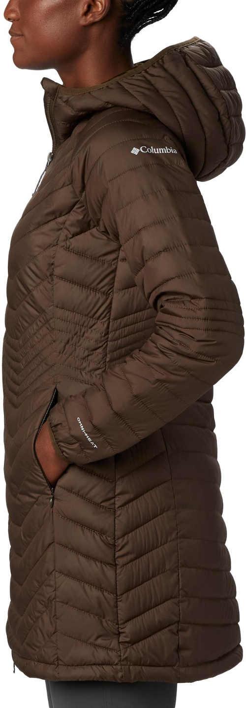 dámská dlouhá bunda s praktickou kapucí