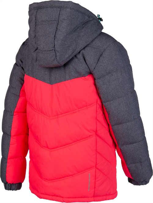 dětká bunda prošívaná v červeno-šedém provedení