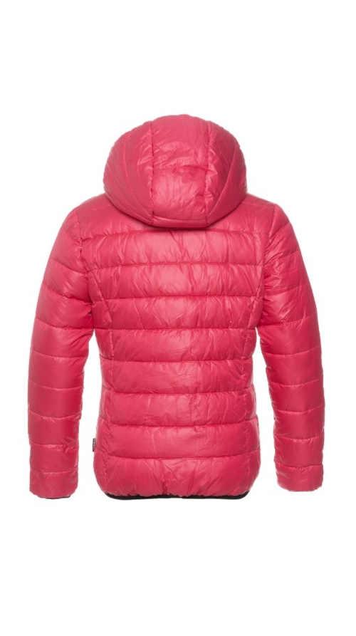 dívčí bunda v módních barvách s kapucí