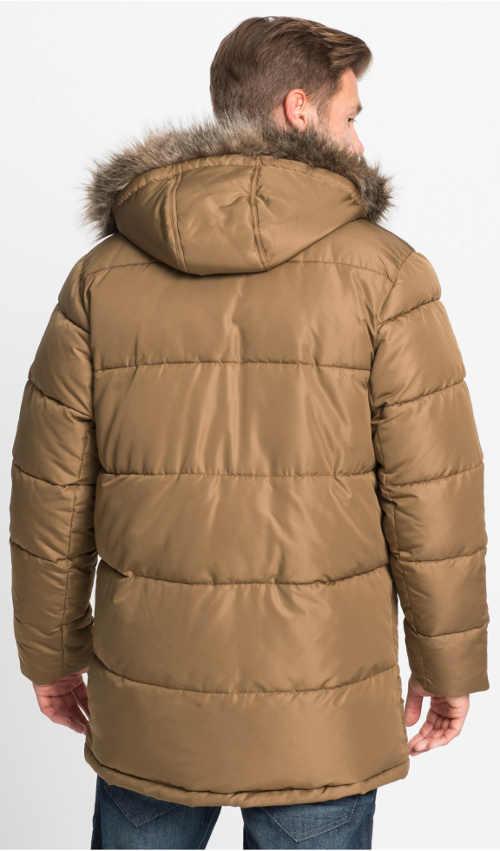 Kapuce pánské zimní bundy s kožešinou