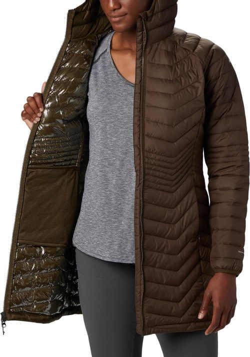 kvalitní prošívaná bunda v delší délce s kapucí