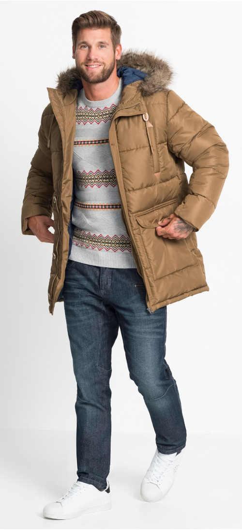 Levná prošívaná pánská zimní bunda Bonprix