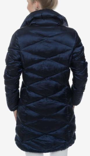 Levný dámský prošívaný kabát s vyšším stojacím límcem