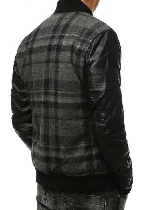 moderní a kvalitní pánská bunda v šedém provedení