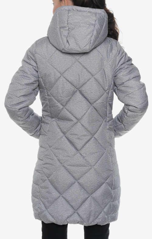 moderní hřejivý dámský kabát s kapucí