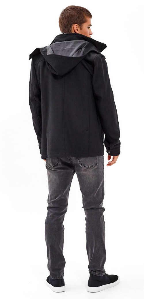 moderní pánský kabát z vlněné směsi