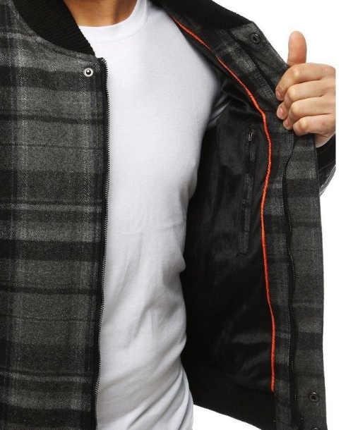 pánská zimní šedá bunda do pasu