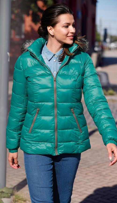 Zelená dámská zimní bunda Bonprix