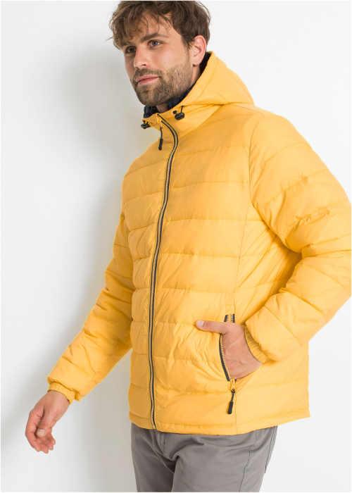 žlutá prošívaná bunda pro muže