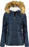 Dámská moderní bunda Lee Cooper s kapucí a kožešinou