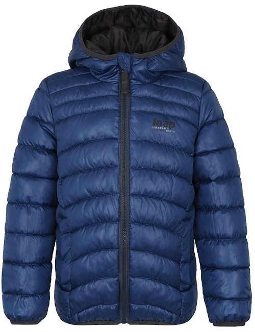 Dětská prošívaná zimní bunda s integrovanou kapucí