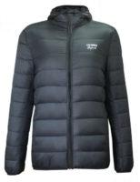 Moderní prošívaná dívčí bunda v šedém provedení s kapucí Lee Cooper
