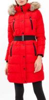 Prošívaná bunda v proloužené délce s páskem v komfortním provedení