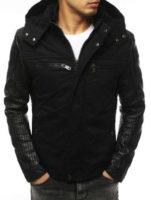 Černá pánská zimní bunda s odnímatelnou kapucí