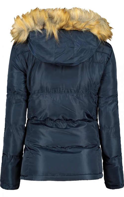 moderní dámská prošívaná bunda s kapucí