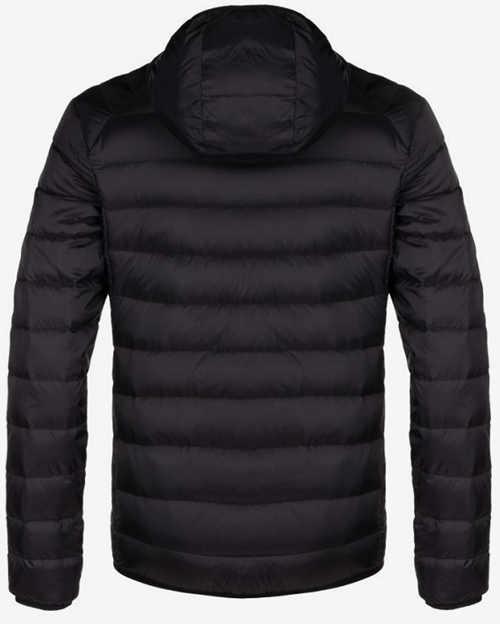 Moderní sportovní jednobarevná černá pánská prošívaná bunda