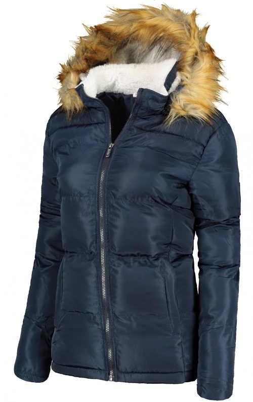 modrá prošívaná bunda pro dívky a ženy