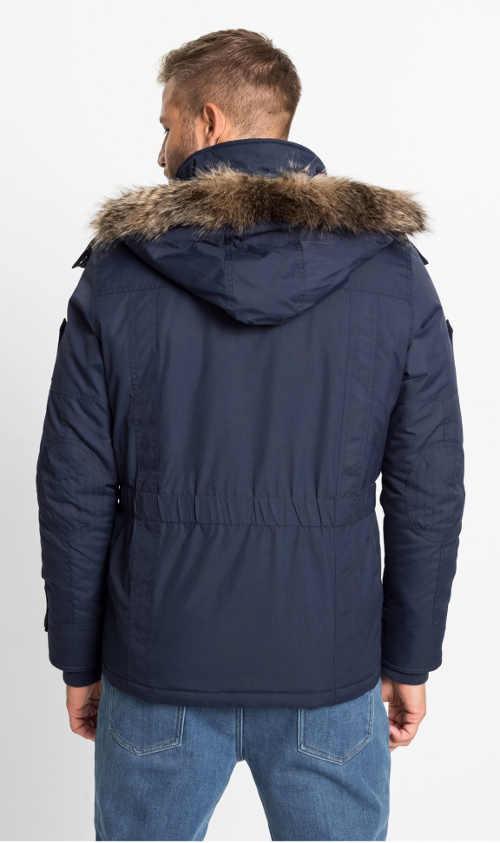 pánská bunda s dotatkem kapes a kapucí