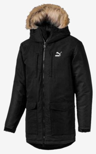 Pánská sportovní bunda Puma s kožešinovým límcem